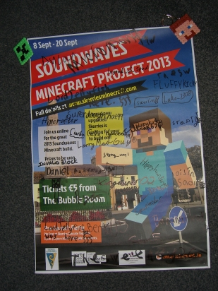 Our poster signed by all crafters